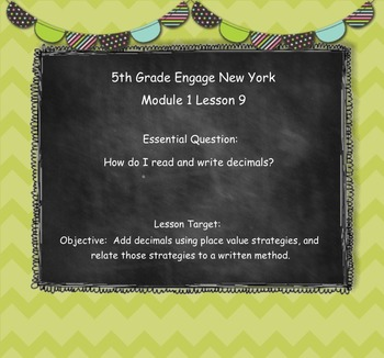 Engage New York (Eureka) Grade 5-Module 1 Topic D SMART Notebook