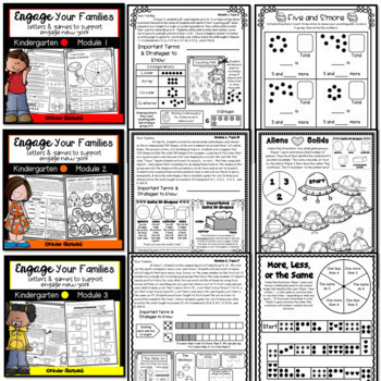 Engage New York Math Letters and Games for Kindergarten {a GROWING BUNDLE}