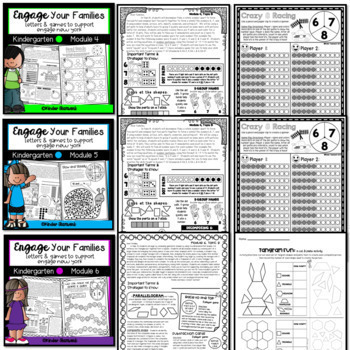 Engage New York Math Letters and Games for Kindergarten {Modules 1-6 BUNDLED}