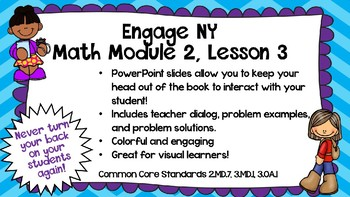 Engage New York Math Module 2, Lesson 3 Power Point Slides for Third Grade