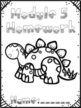 Engage New York Math Module Covers for Problem Sets, Homework and Exit Tickets