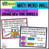 Math Vocabulary Posters 4th Grade- Engage New York Module 6
