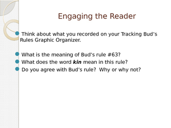 Engage New York Module 2A Unit 2 lesson 1 Bud, Not Buddy