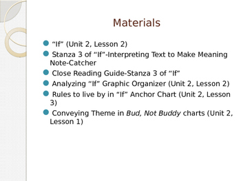 Engage New York Module 2A Unit 2 lesson 7 Bud, Not Buddy