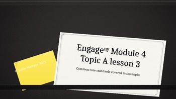 Engage New York Module 4 Topic A Lesson 3
