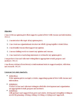 Engage New York Opinion Essay Legacy and Barriers rubric 5th grade