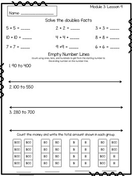 Eureka Math Engage NY Supplemental Practice Pages Grade 2 Module 3