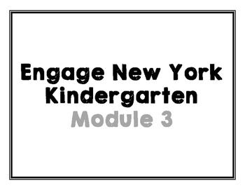 Engage New York Vocabulary Cards, Kindergarten, Module 3
