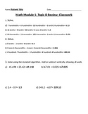 Engage Ny Grade 5 Math Module 1 Topic D Review & HW sheets