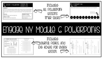 Engage Ny, Module 6 PowerPoints *Editable*
