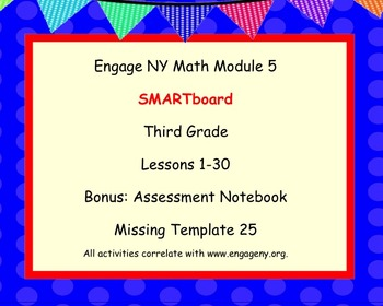 Engage Ny SMART board Third Grade Math Module 5 Lessons 1-30