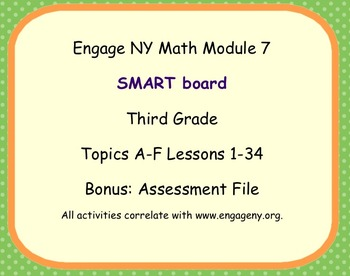 Engage Ny SMART board Third Grade Math Module 7 Lessons 1-34