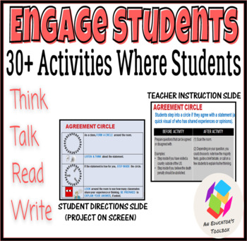 Engage Students: 30+ Activities Where Students Think, Talk