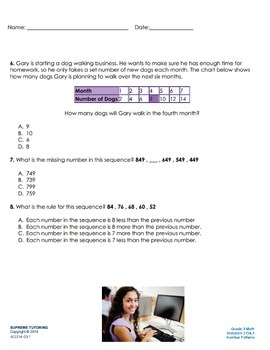 Engage Your Student! Augmented Reality 3rd Grade Math - Number Patterns