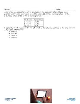 Engage Your Student! Augmented Reality 7th Grade Math - Percents