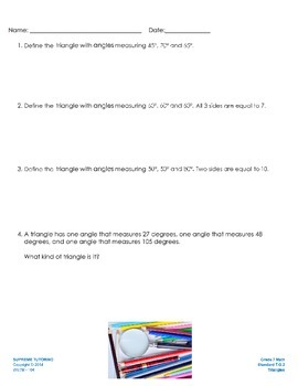 Engage Your Student! Augmented Reality 7th Grade Math - Triangles