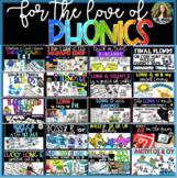 Growing Phonics Bundle: Games, Stations, QR Code Hunts, Passages and Printables!