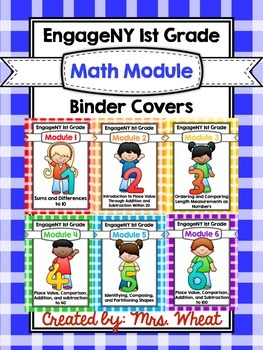EngageNY 1st Grade Binder Covers