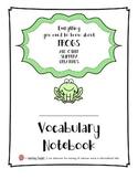 EngageNY 3rd Grade ELA Module 2A: Unit 2 Vocabulary Notebook