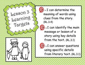 EngageNY 3rd Grade ELA Module 3A Unit 1 Long-Term Learning Targets