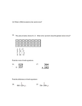 EngageNY 3rd Grade End of Module 2 Test
