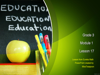 Eureka Math - 3rd Grade Module 1, Lesson 17 PowerPoint