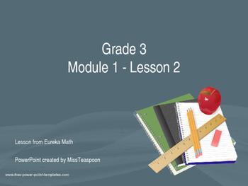 Eureka Math - 3rd Grade Module 1, Lesson 2 PowerPoint