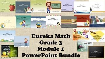 Eureka Math - 3rd Grade Module 1, Lessons 1-21 PowerPoints (ENTIRE MODULE)