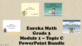 Eureka Math - 3rd Grade Module 1, Topic C PowerPoints