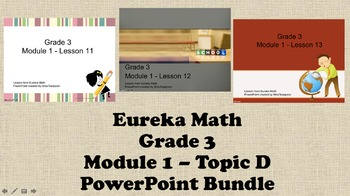 Eureka Math - 3rd Grade Module 1, Topic D PowerPoints
