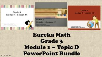 Eureka Math - 3rd Grade Module 1, Topic D PowerPoints