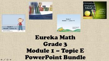 Eureka Math - 3rd Grade Module 1, Topic E PowerPoints