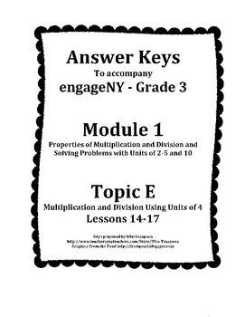 EngageNY - 3rd Grade Module 1, Topic F Answer Keys