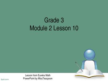 Eureka Math - 3rd Grade Module 2, Lesson 10 PowerPoint