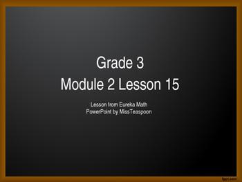 Eureka Math - 3rd Grade Module 2, Lesson 15 PowerPoint