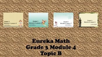 Eureka Math - 3rd Grade Module 4, Topic B PowerPoints