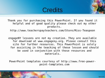 EngageNY - 3rd Grade Module 5, Topic D PowerPoints