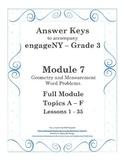 EngageNY - 3rd Grade Module 7 - Answer Keys (FULL MODULE)