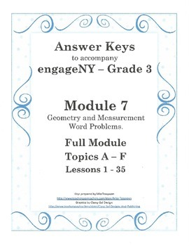 EngageNY - 3rd Grade Module 7 - Answer Keys (FULL MODULE)