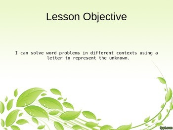 EngageNY - 3rd Grade Module 7, Lesson 1 PowerPoint
