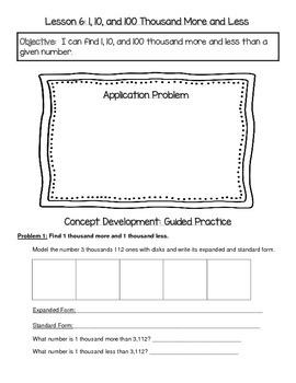 EngageNY 4th Grade Math Module 1 Topic B Journal