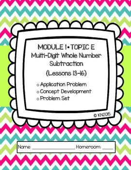 EngageNY 4th Grade Math Module 1 Topic E Journal