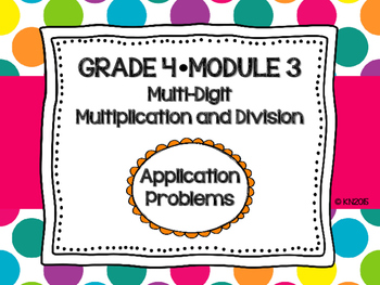 EngageNY 4th Grade Math Module 3 Application Problems