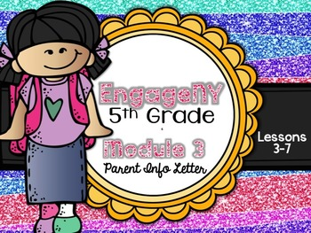5th Grade EngageNY/Eureka Math - Module 3 - Lessons 3-7 Parent Info Sheet