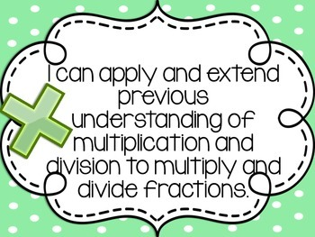 """5th Grade EngageNY/Eureka Math - Module 5 Learning Goals - """"I Can"""" Statements"""
