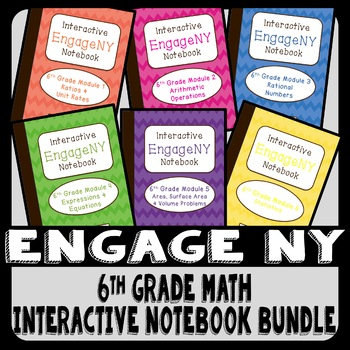 EngageNY 6th Grade Math Interactive Notebook Bundle