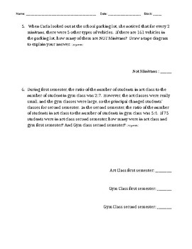 EngageNY 6th Grade Module 1 Lesson 1-6 Study Guide and Quiz