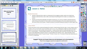 EngageNY 6th grade Module 1 Lesson 1 ActivInspire Flipchart for Promethean