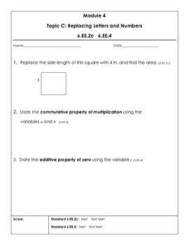 Eureka Math  6th grade Module 4 Topic Quizzes