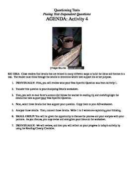 EngageNY 7th Grade ELA: Accompanying Student Packet - Part Two Reading Closely
